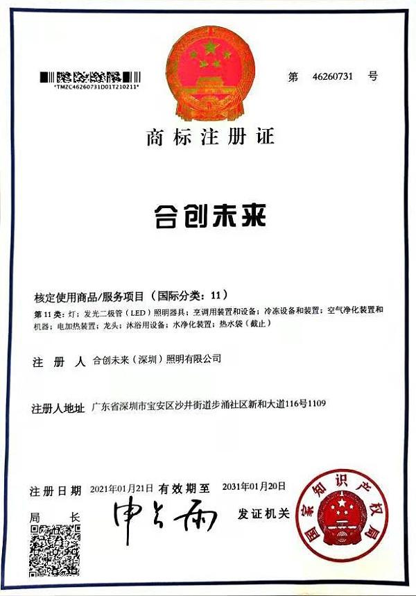 合创未来-商标注册证