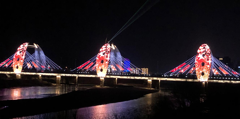 甘肃陇南市栈道湾大桥点光源亮化工程