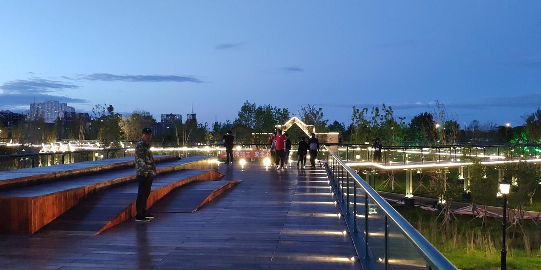 黑河市瑷珲区腾冲人口地理分界线主题公园亮化项目
