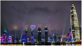 深圳特区建立40周年户外亮化照明工程+无人机大型灯光表演秀振奋人心